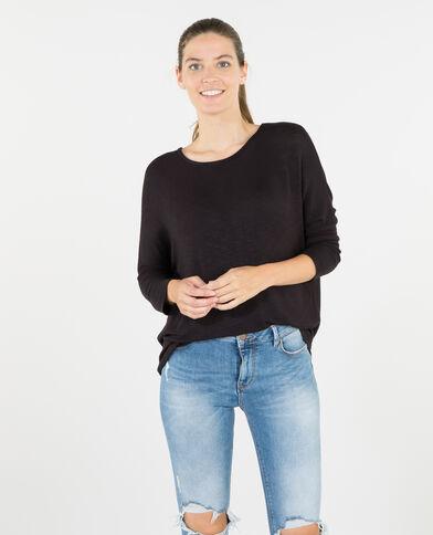 Camiseta mangas murciélago negro