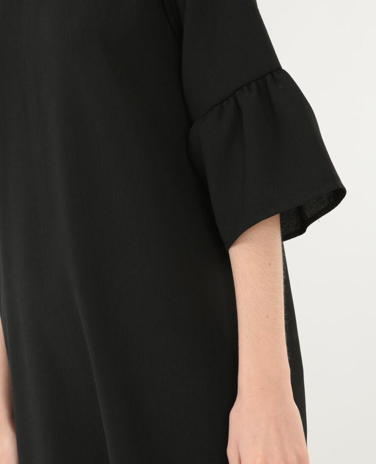 Kleid mit Rücken-Dekolleté Schwarz