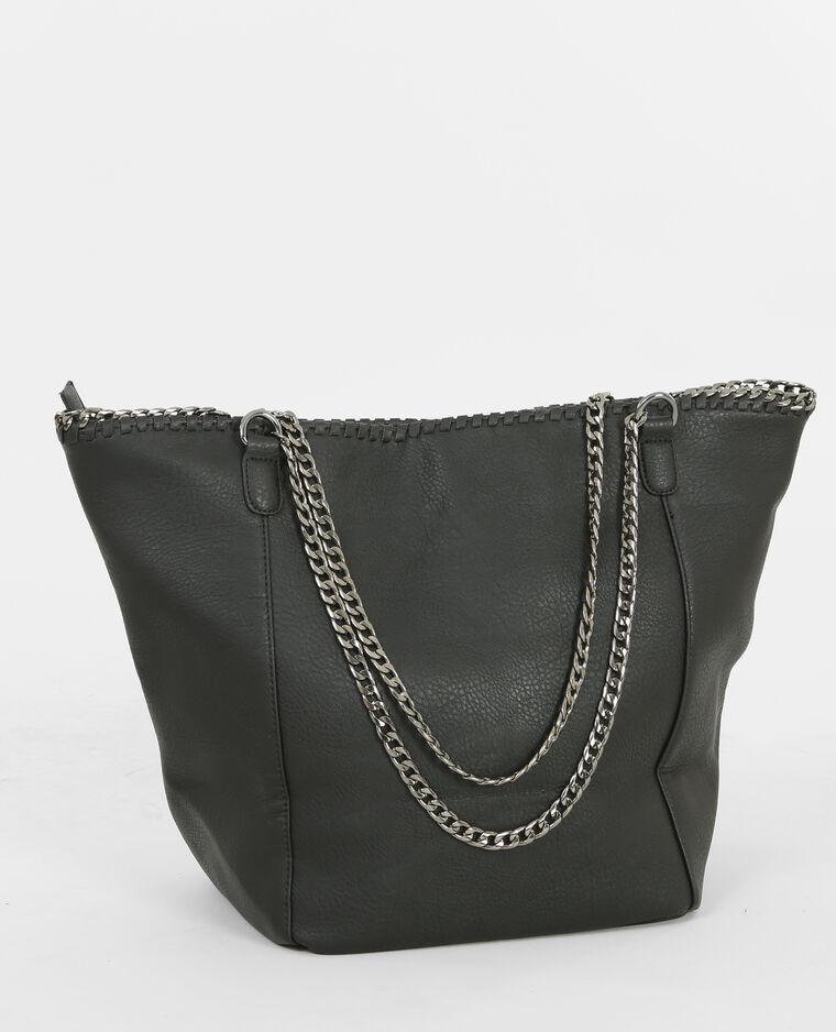 sac cabas avec cha ne noir 983126899a08 pimkie. Black Bedroom Furniture Sets. Home Design Ideas
