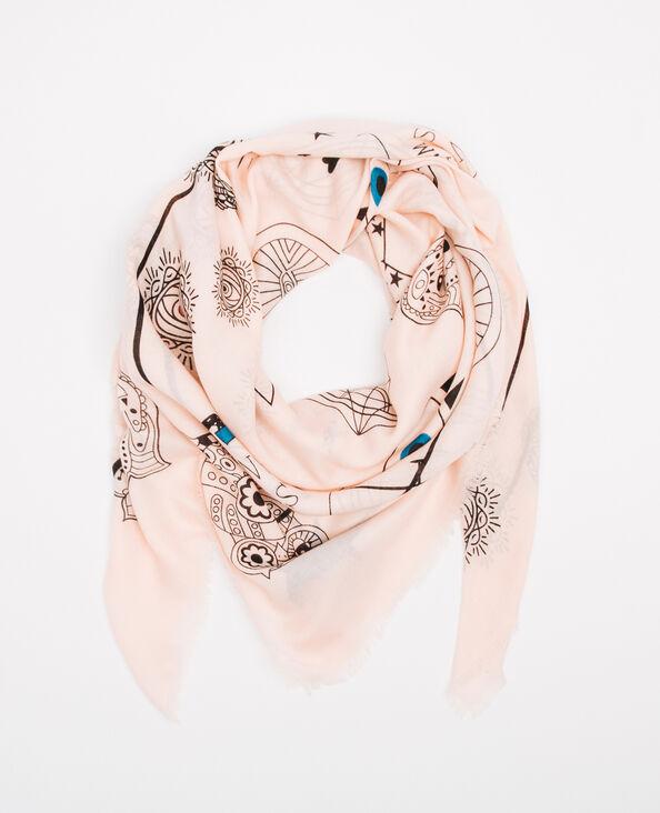 Foulard imprimé rose