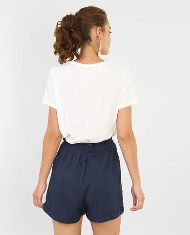 T-shirt à fausse fourrure blanc