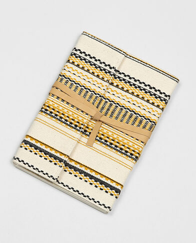 Block notes jacquard bronzo