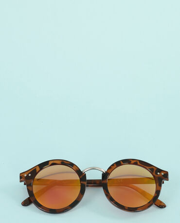 Runde Sonnenbrille Kastanienbraun