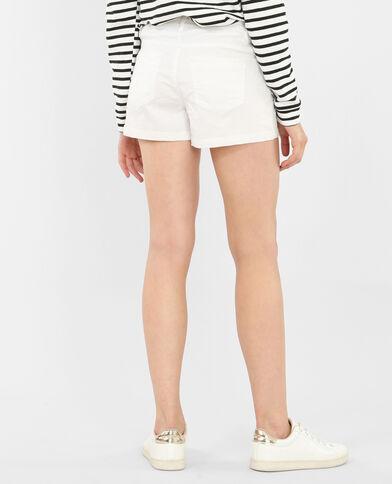 Short plissé blanc
