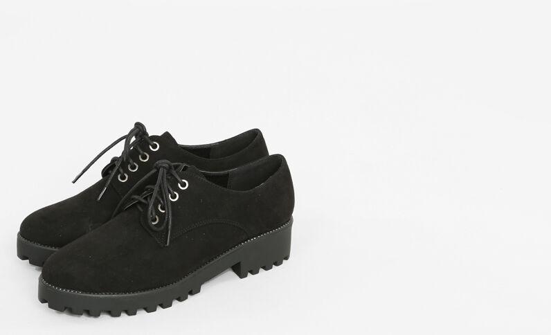 Zapatos derby negro