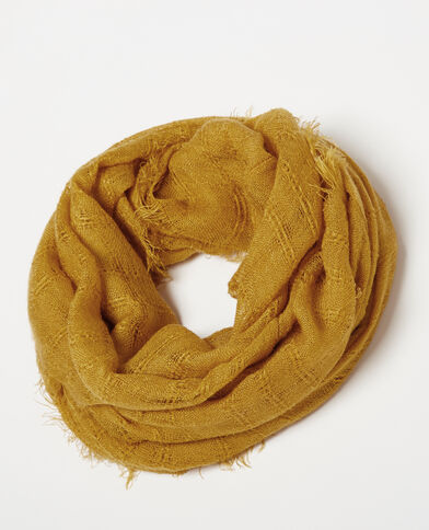 Foulard fin jaune moutarde