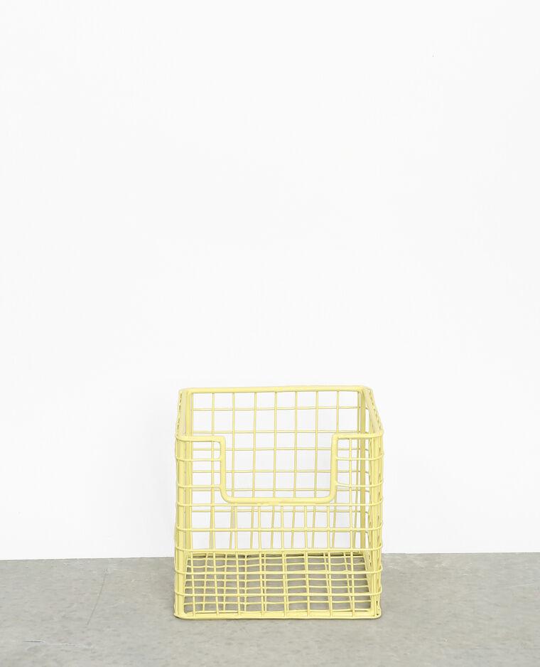 Box de rangement métallique jaune
