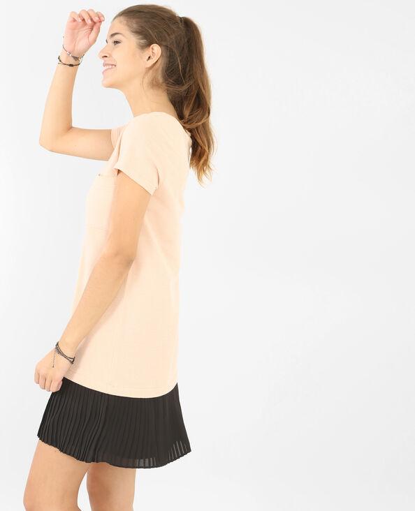 Kleid mit plissiertem Rockteil Rosa