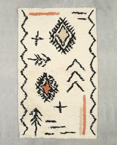 Teppich mit Motiven Naturweiß