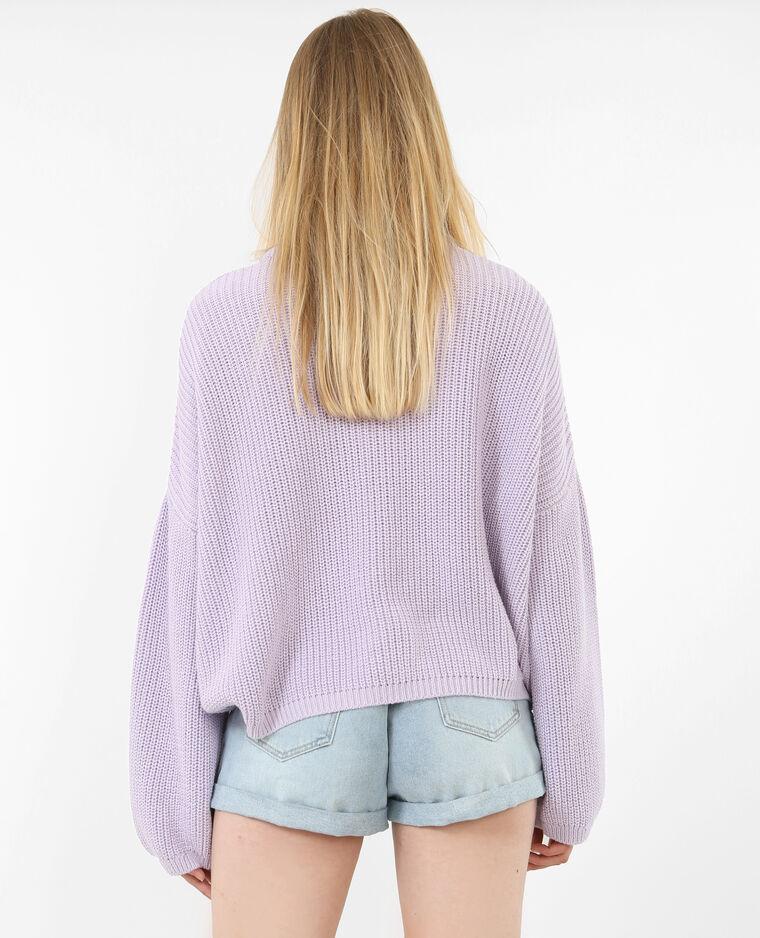 Pull oversized violet