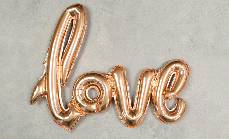 Luftballon LOVE Kupferrot