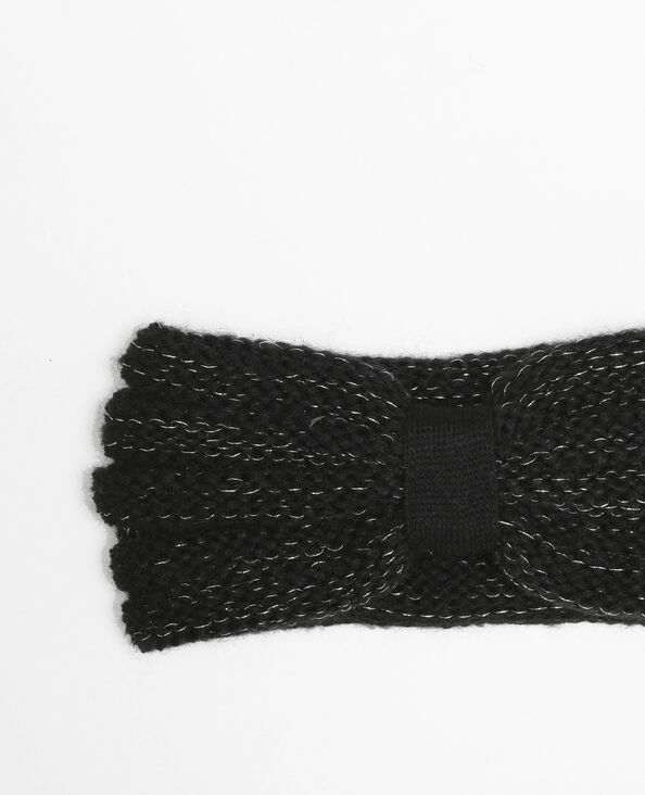 Bandeau lurex noir