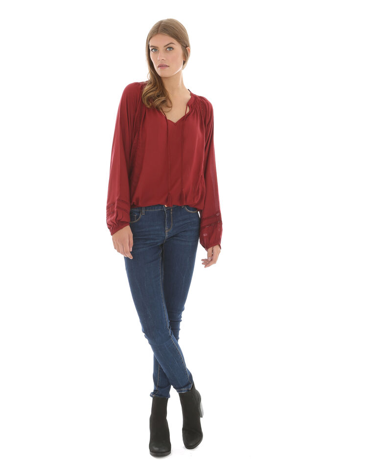 leichte bluse ziegelrot 561212351a03 pimkie. Black Bedroom Furniture Sets. Home Design Ideas