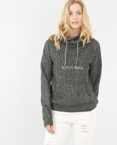 Sweatshirt mit Schriftzug Grau