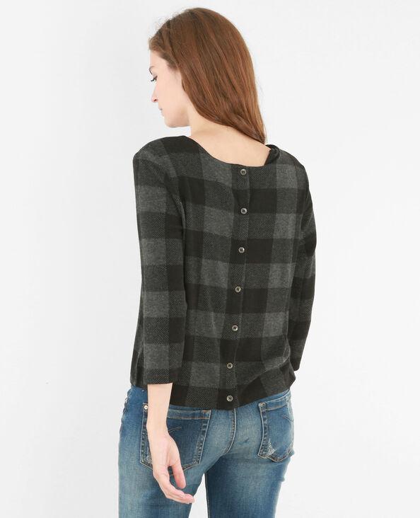 T-shirt carreaux vichy gris