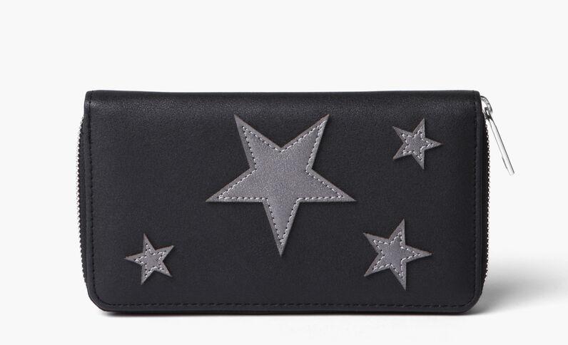 Cartera estrellas negro