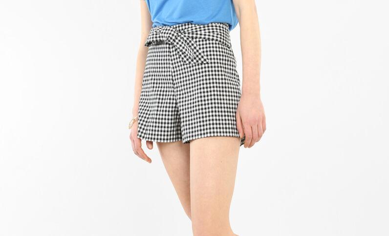 Shorts Vichy Negro