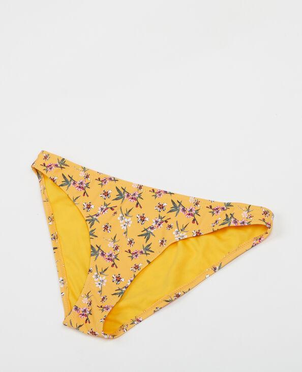 Bikinibroekje met bloemenprint geel