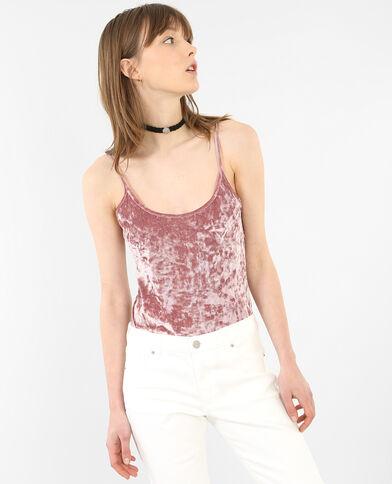 Body in velours Roze