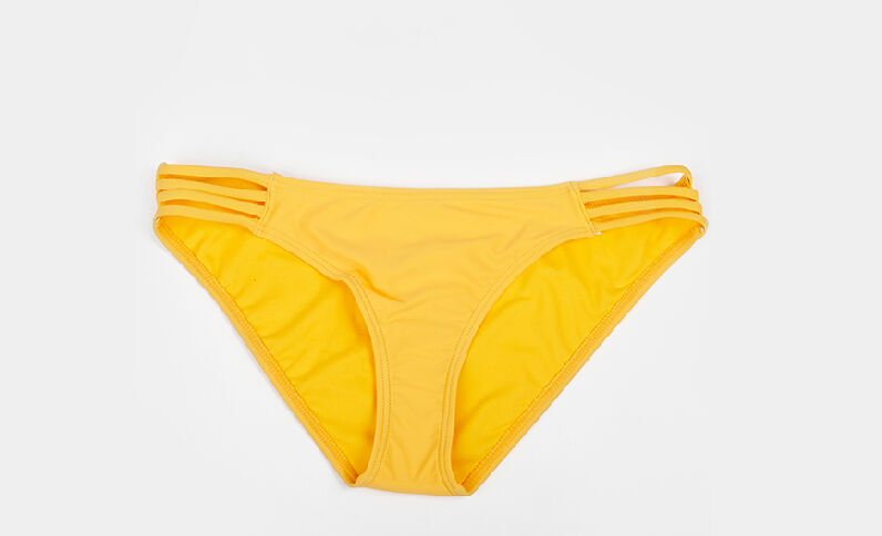Bikinislip met lintjes geel