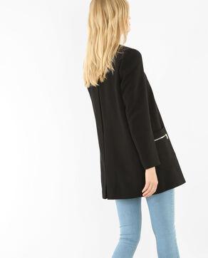 Abrigo sin cuello negro