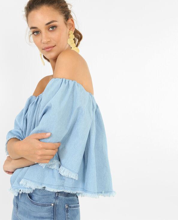 Blouse ample bleu