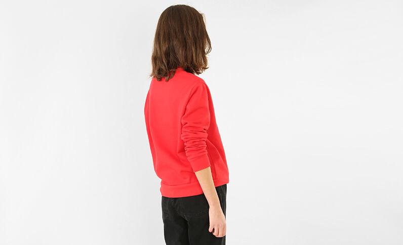 """Sweatshirt mit Schriftzug """"Live long"""" Rot"""