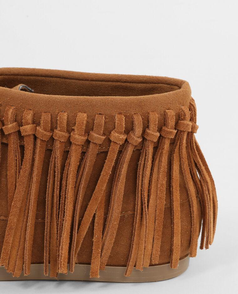stiefeletten mit fransen kastanienbraun 986113747a07. Black Bedroom Furniture Sets. Home Design Ideas