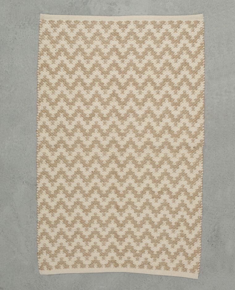 tapis tiss zigzag blanc 902893a90c09 pimkie. Black Bedroom Furniture Sets. Home Design Ideas