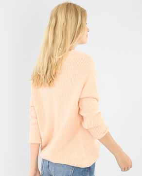 Pull ample col V rose