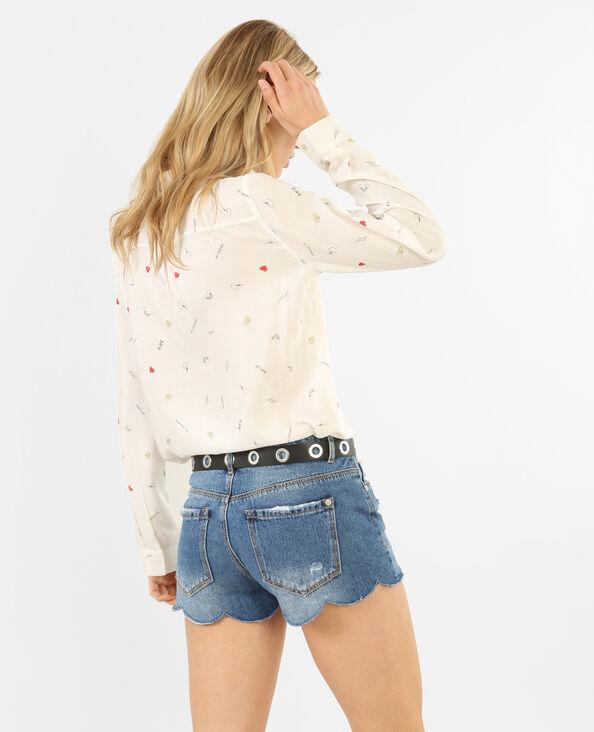 Camisa estampada blanco