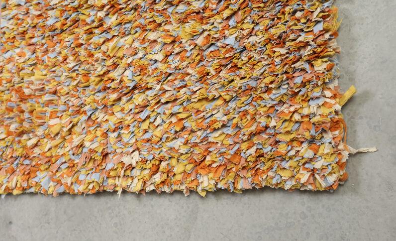 Teppich mit Strukturstoff Weiß