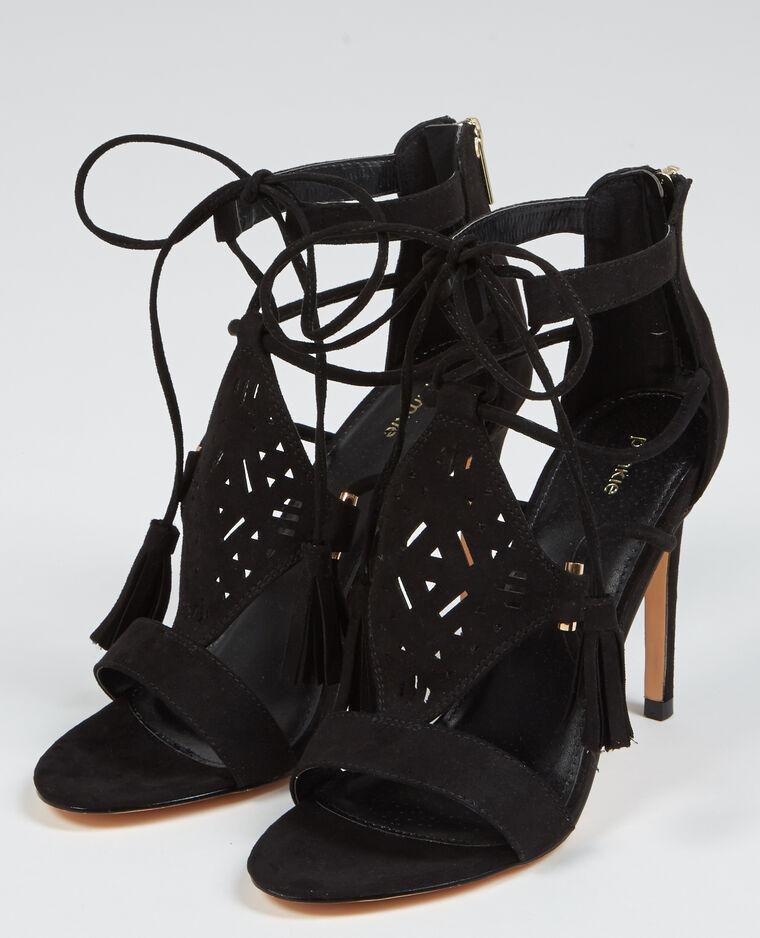 sandaletten mit absatz schwarz 988071899a08 pimkie. Black Bedroom Furniture Sets. Home Design Ideas