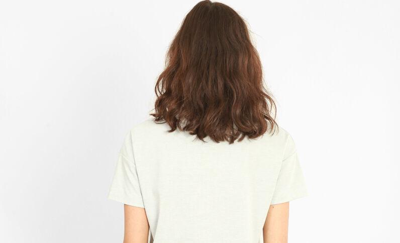 T-Shirt mit Schnürung Grau meliert