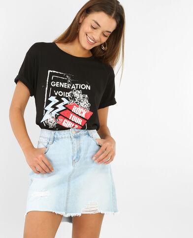 Stoer T-shirt zwart