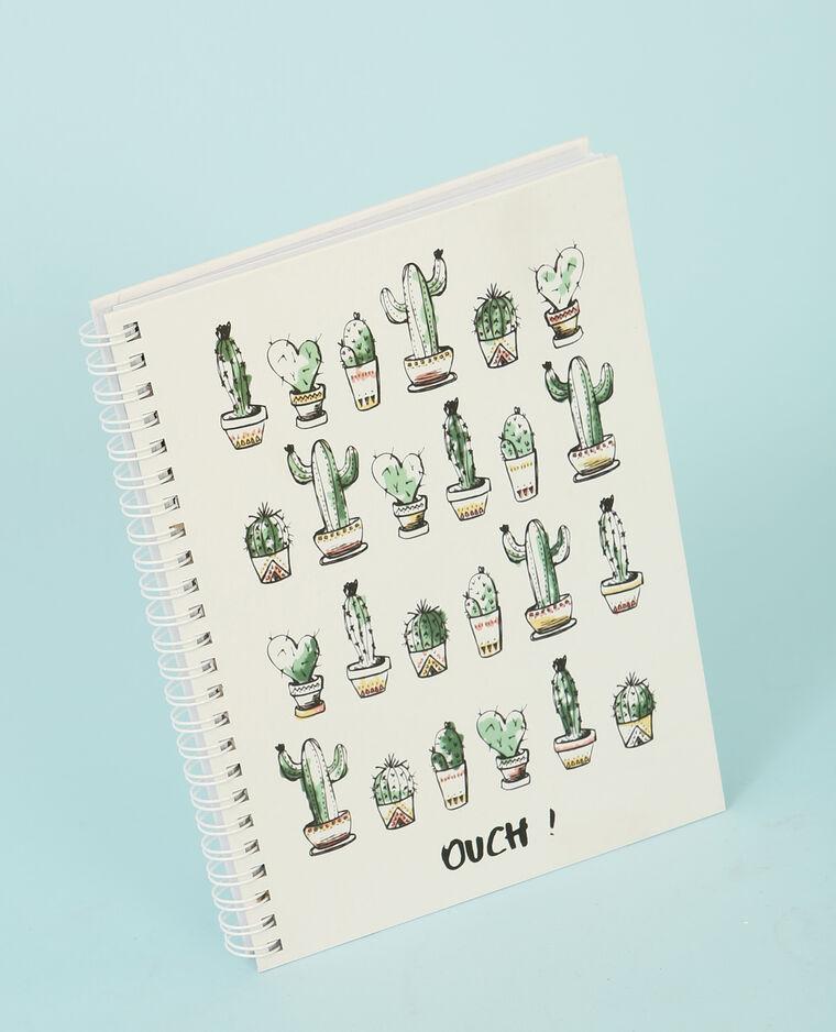 Notebook cactus écru