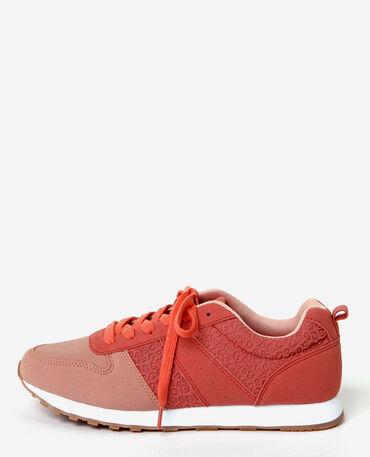 Zapatillas estilo running rosa