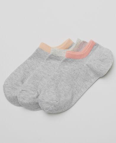 Lote de calcetines tobilleros marrón claro