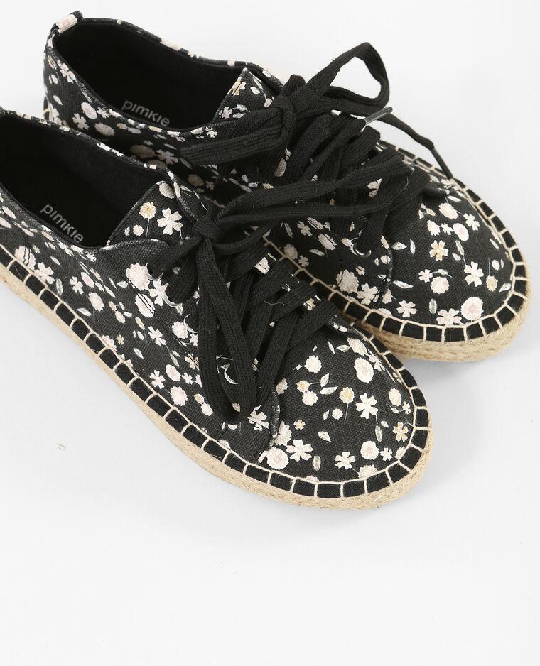 Zapatillas suela de paja negro