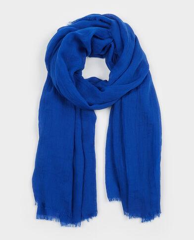 Foulard in stile chèche blu elettrico