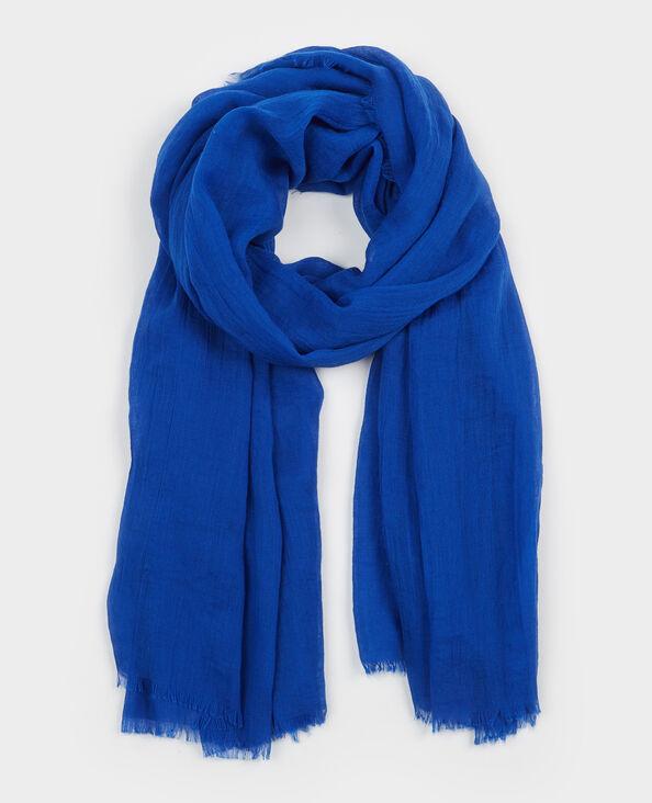 Foulard esprit chèche bleu électrique