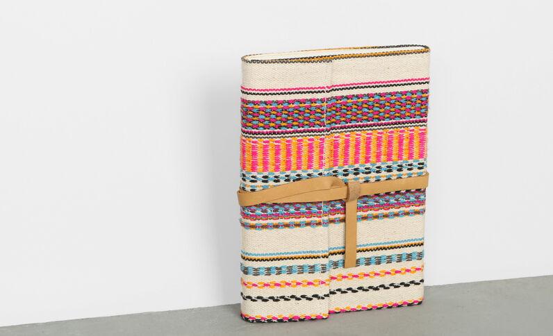 Notizbuch mit Jacquardmuster Weiß