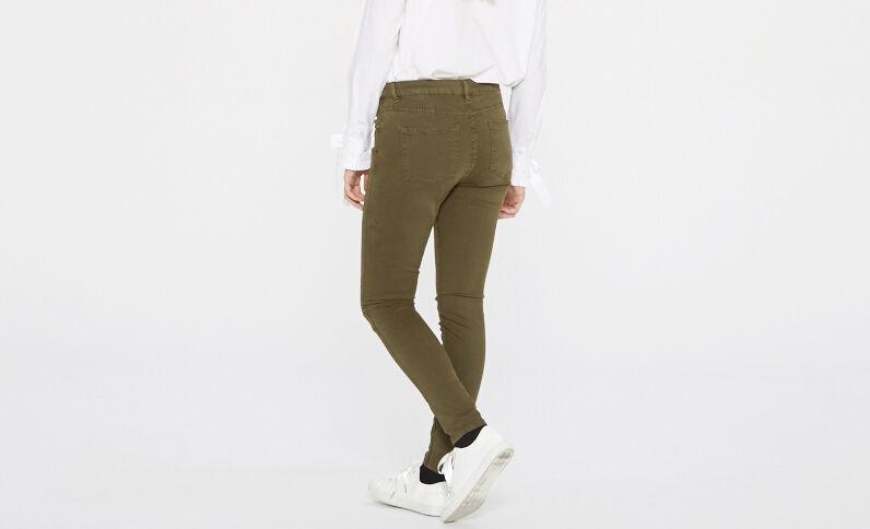 Pantalon skinny kaki
