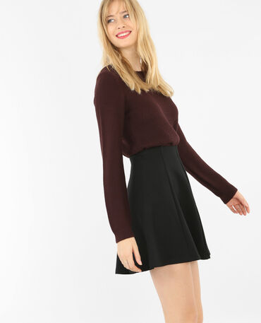 Pullover aus Mustermix Granatrot