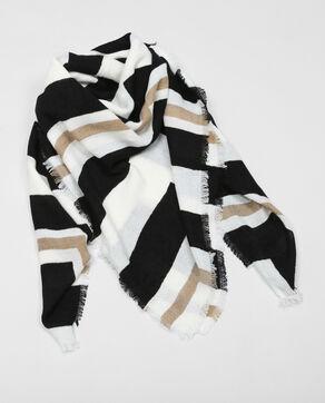 Foulard chaud blanc cassé