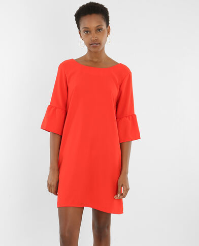 Robe manches pagode rouge