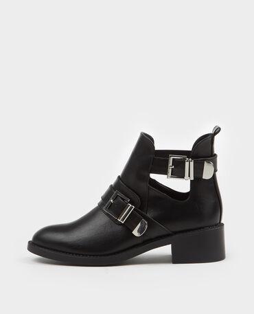 Boots à sangles noir