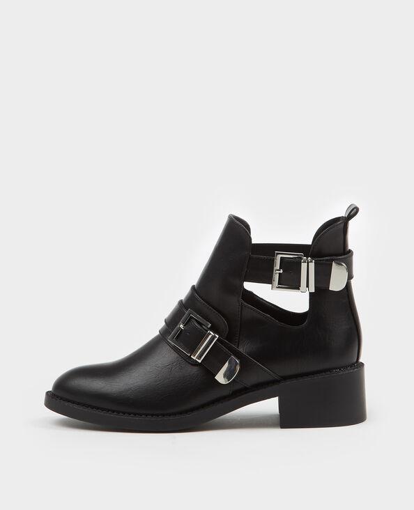 Laarzen met riempjes zwart