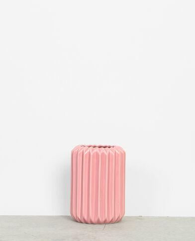 Vase céramique rose