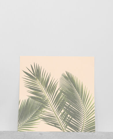Poster mit Palmen-Motiv Rosa